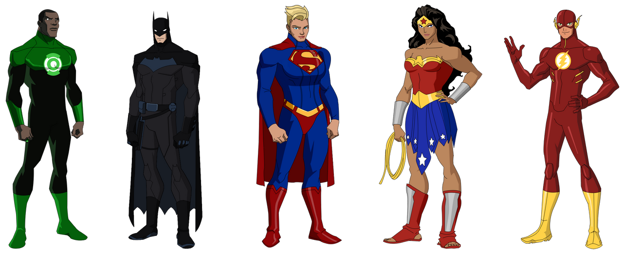 Cartoon Characters Justice League : Justice league by ynot on deviantart