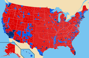 2016: Election Results by County by YNot1989