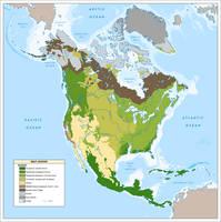 North American Biomes ca. 2049 by YNot1989
