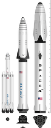 SpaceX Rocket Comparison by YNot1989