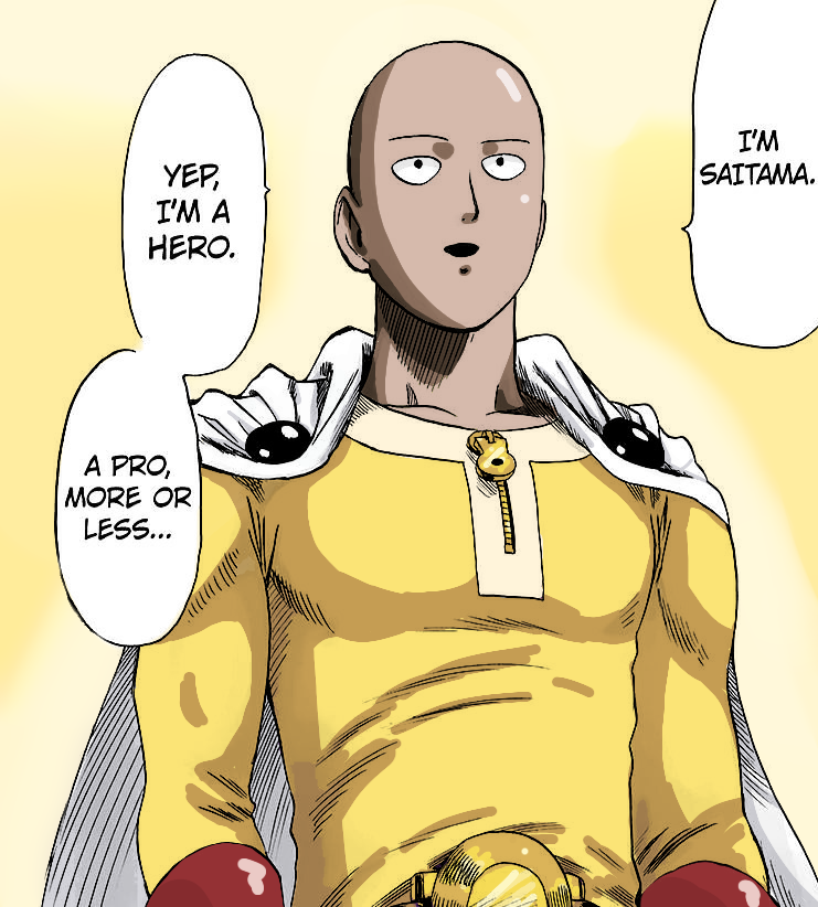 Opm manga cap colouration
