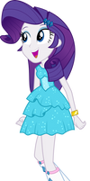 Rarity arrive at the party EG