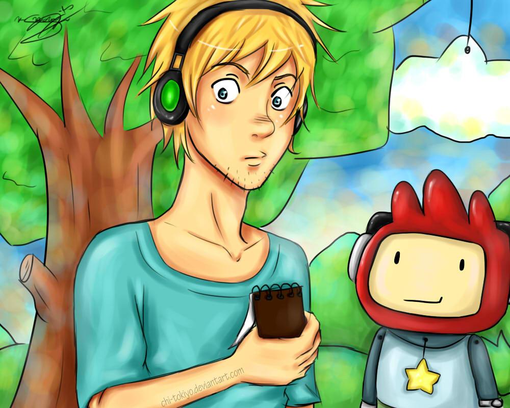 PewDiePie: Scribblenauts Edition! by chi-tokiyo