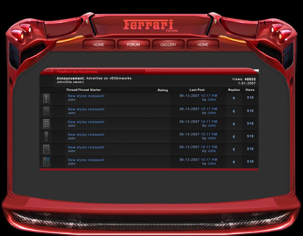 Ferrari Forums by El3ment4l