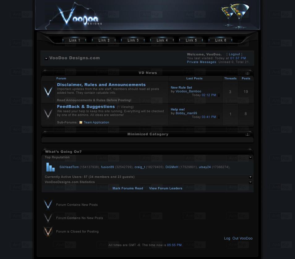 Voodoo Designs - vB Theme by El3ment4l