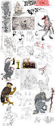 Doodle Dump 1 by RedWolfmoon