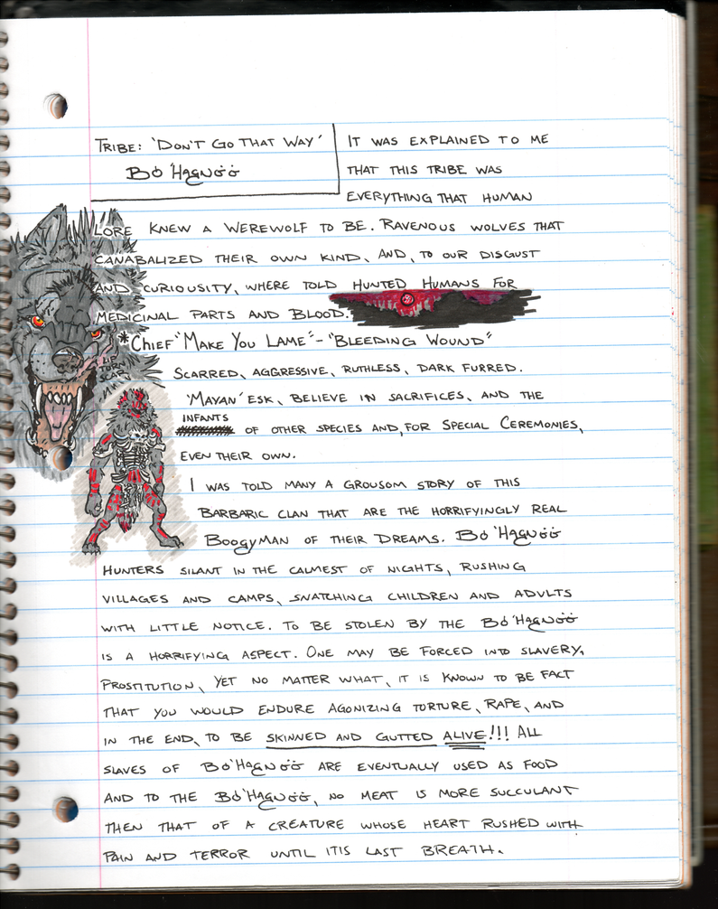 Journal Log. Tribe 'Boo Hog Nee' by RedWolfmoon