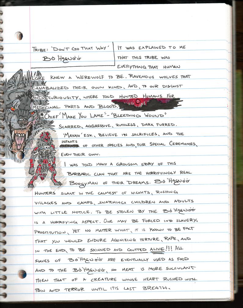 Journal Log. Tribe 'Boo Hog Nee' by RedWolfmoon