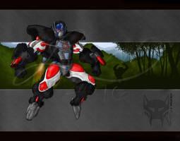 Optimus Primal Collab by RedWolfmoon