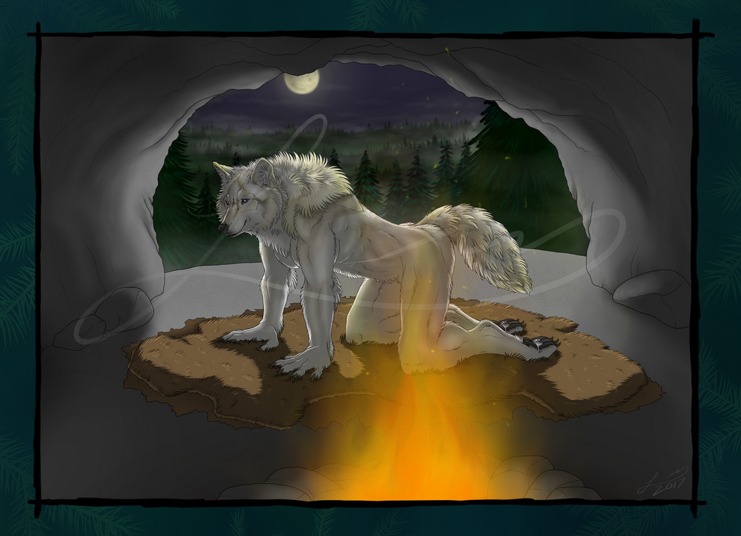 theLoneWerewolf Commission by RedWolfmoon