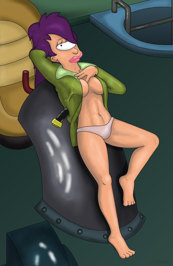 Capt Turanga Leela Pin up by FuturamaFreak1