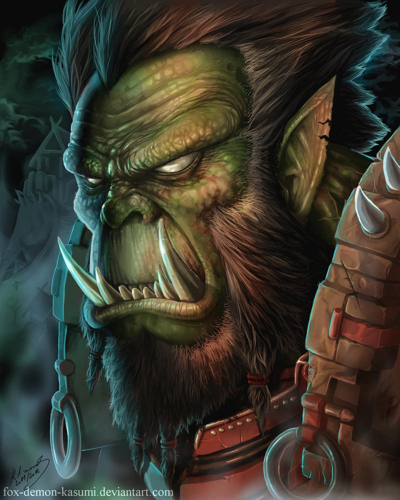 Warcraft: Orc portrait by Fox-Demon-Kasumi