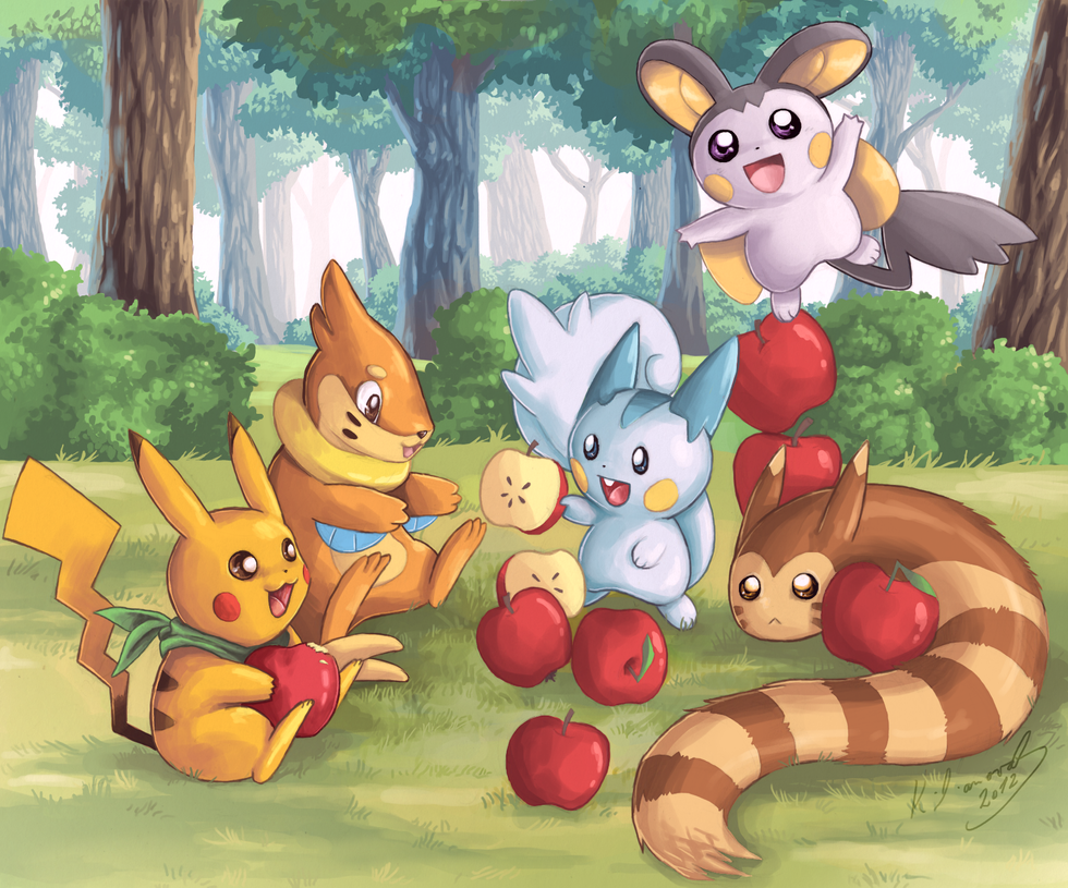 Pokemon: Having a great time together by foxinsoxx