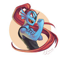 Undyne: Stay determined, punk!