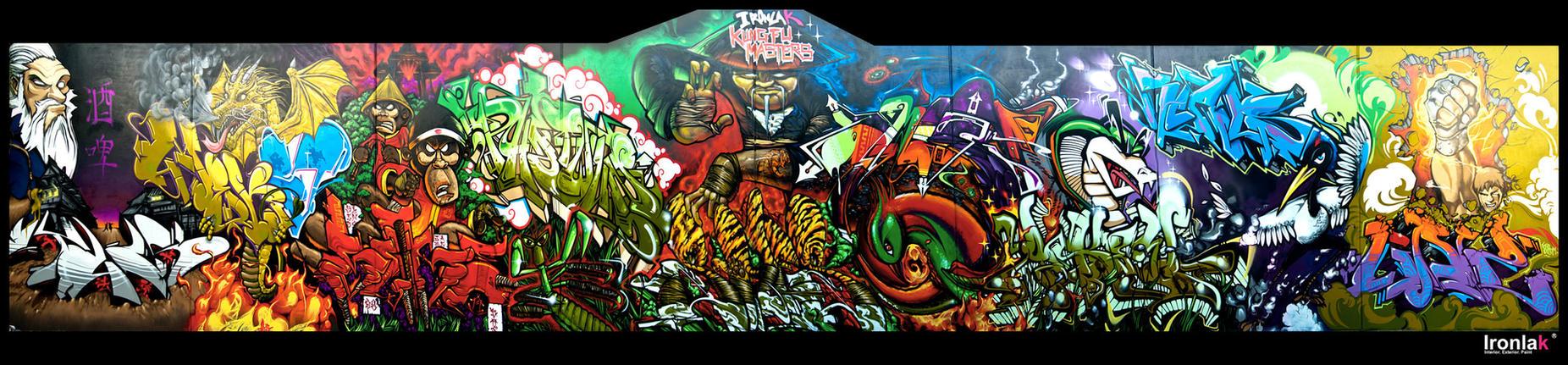 IRONLAK KUNG FU MASTERS by EL3RD