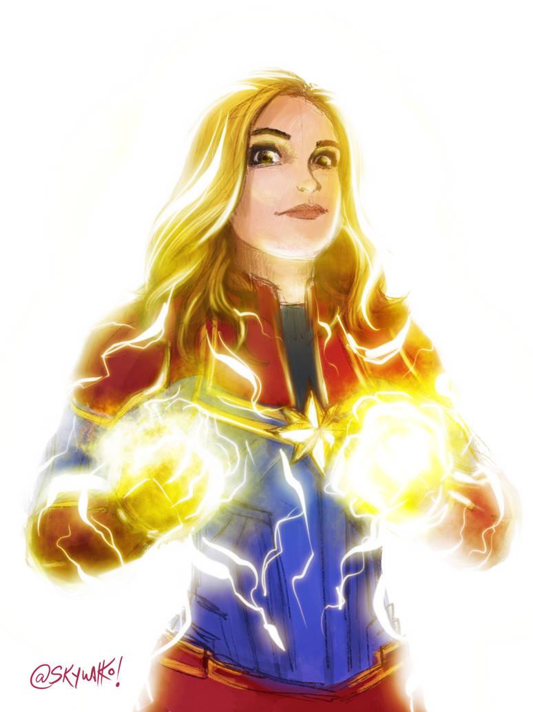 Captain Marvel by skywakko