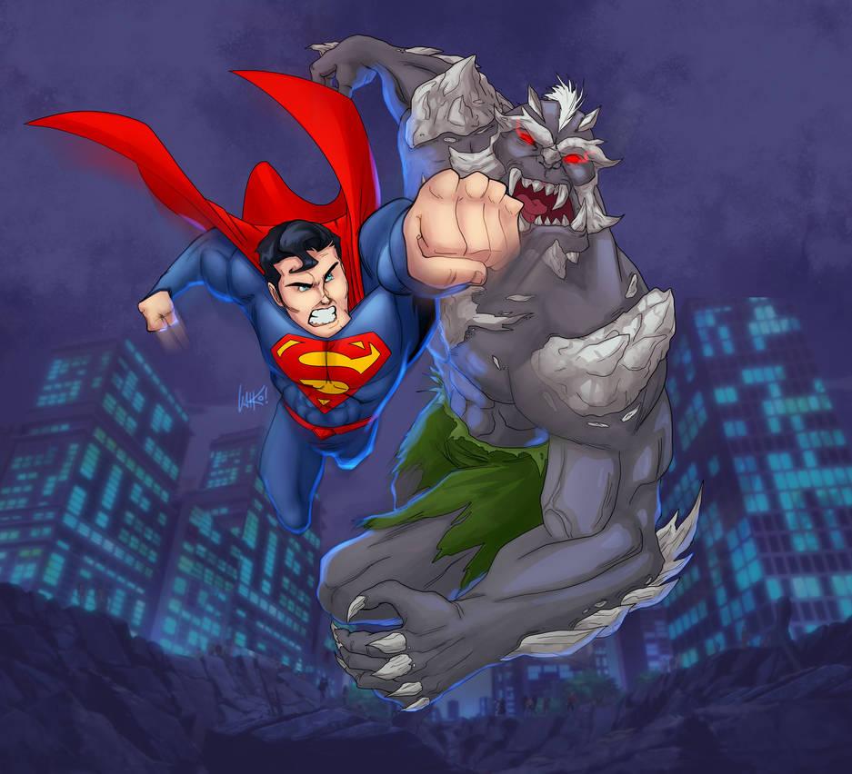 Death of Superman by skywakko