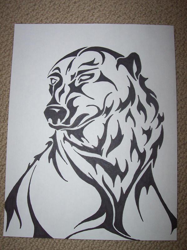 Tribal Polar Bear Tattoo