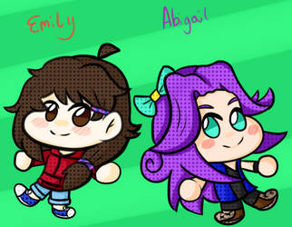 Emily and Abby by iKeychain