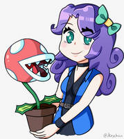 Abigail and... Piranha Plant!? by iKeychain