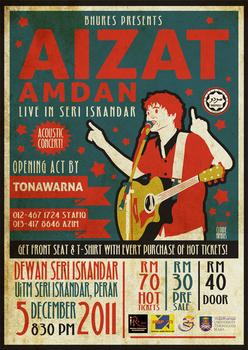 Aizat Amdan Acoustic Concert Poster
