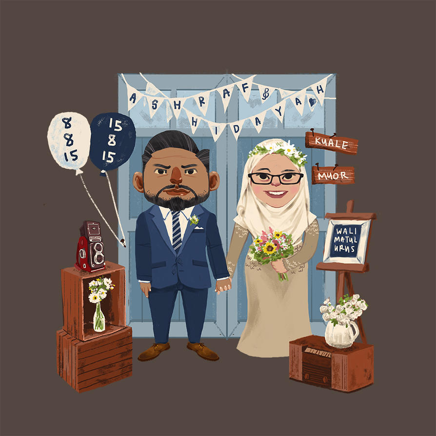 My Wedding Invitation Illustration by nimbusnymbus