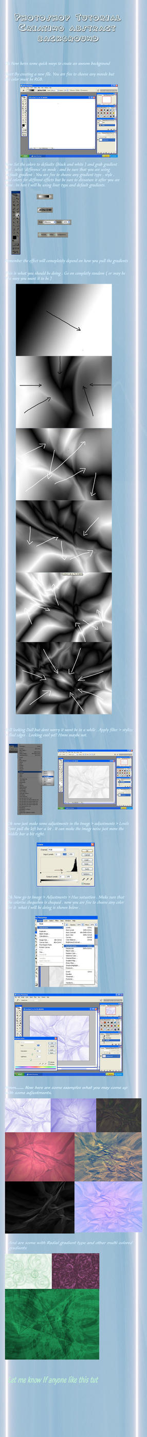 Icy background tutorial by Ray3000