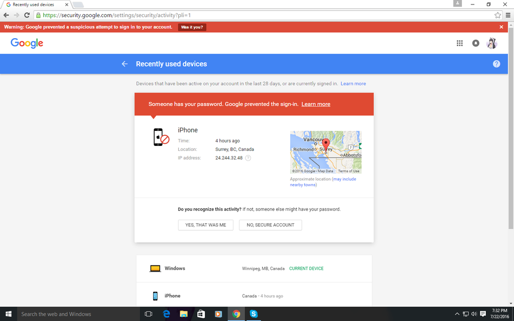 how to get into someones account on google