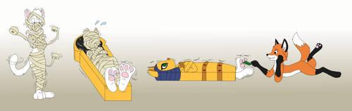 Mummified Paw Play by NaughtyCatNick