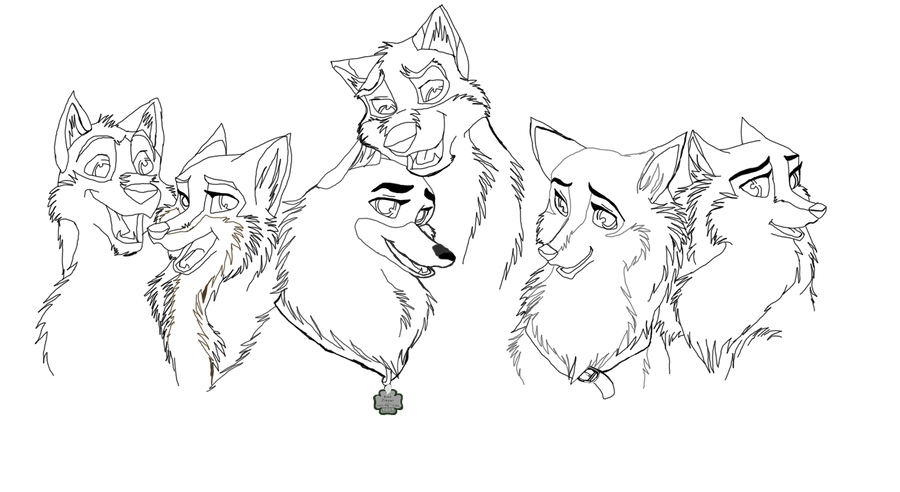 Balto And Jenna Coloring Pages | New Blog |