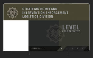 S.H.I.E.L.D. Field agent level 1 ID card (Blank)