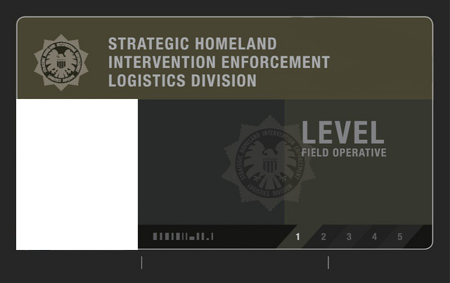 S H I E L D Field Agent Level 1 Id Card Blank By