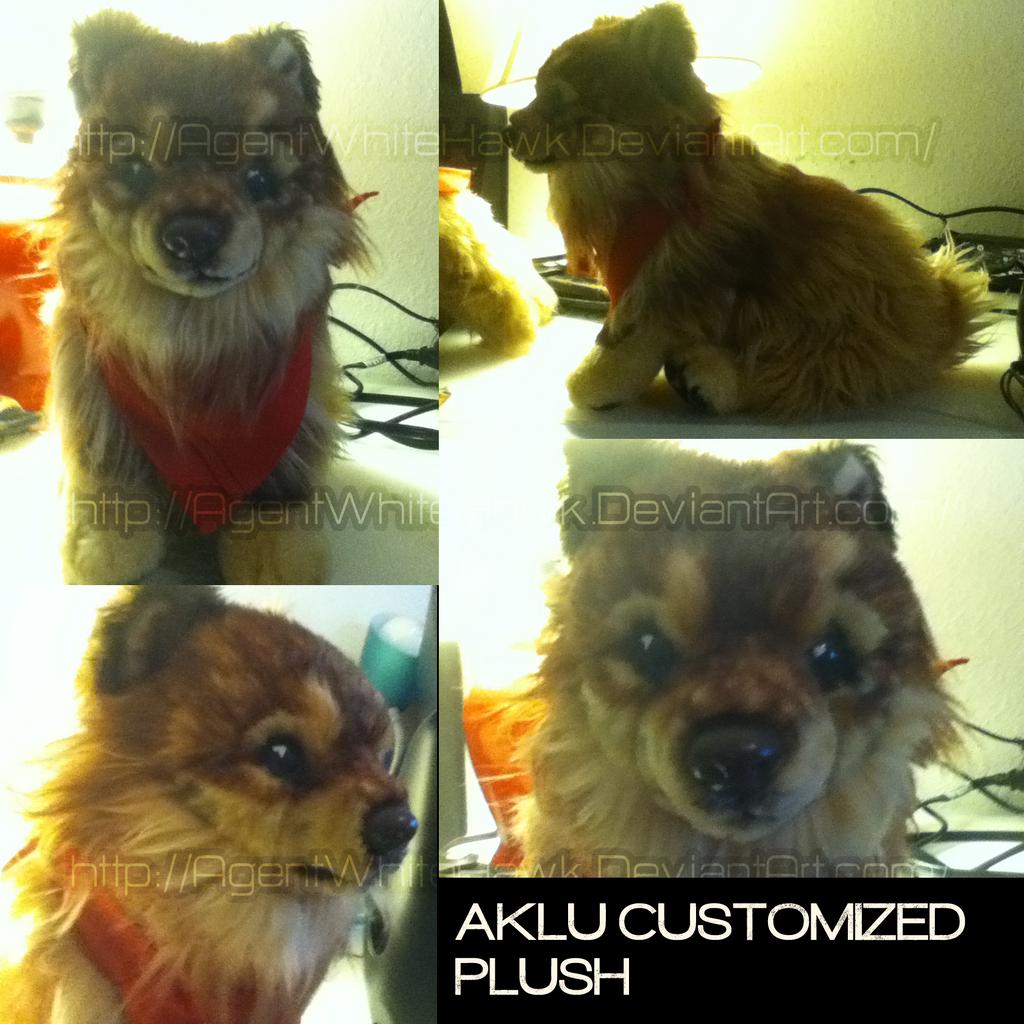 Aklu Custom plush WIP. by AgentWhiteHawk