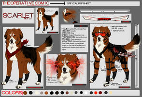 Scarlet ref sheet (redesigned) by PricklyAlpaca