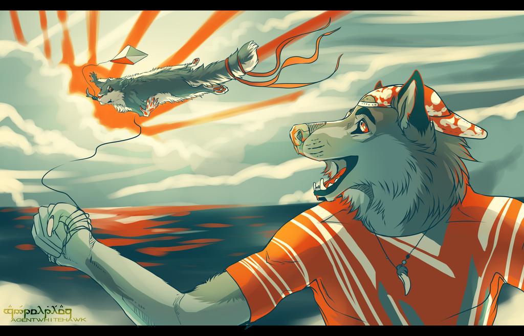 Anthro Challenge #104 | Kite by AgentWhiteHawk