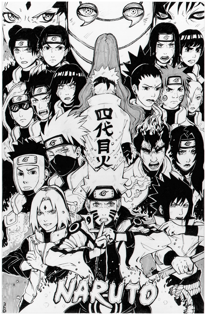 Top Wallpaper Naruto Black And White - naruto_by_agentwhitehawk-d9aou0u  Trends_316450.png