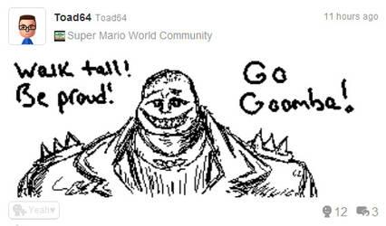 Miiverse Post - Go Goomba by RuneSword