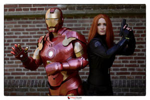 Black Widow and Iron Man Cosplay