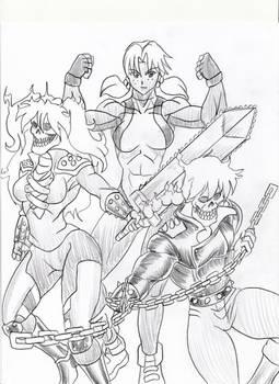 She Hulk Hikari and Ghost Riders Ranma and Asuka