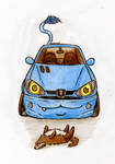 [Paypal Commish]: Chibi-Kitty Peugeot 206 by MazdaTiger