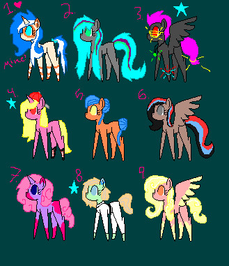 Cheap Mlp Adopts! {OPEN} by AwakeandAlive26