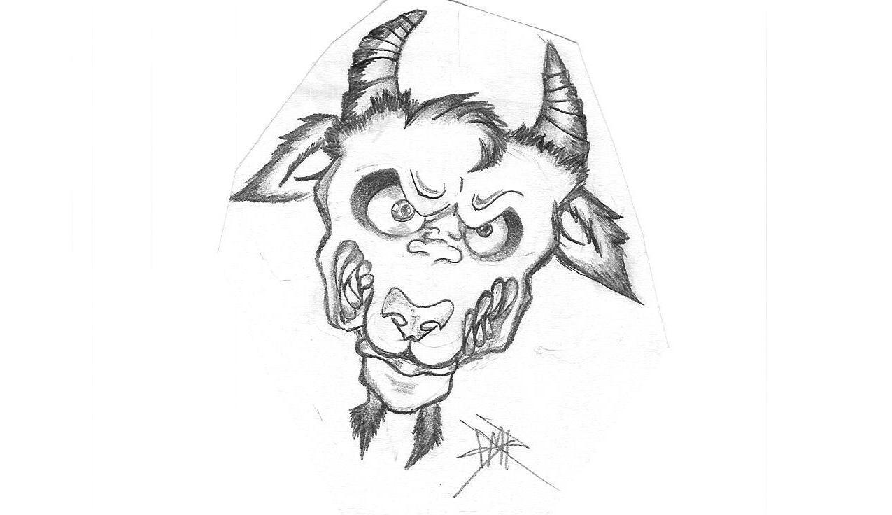 Angry Goat by binkymiche on DeviantArt