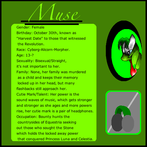 Muse Character Card by phlegmaticbunny