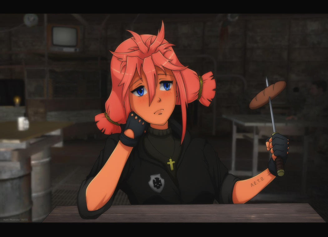 Ulyana and bad sausages by Kain-Moerder
