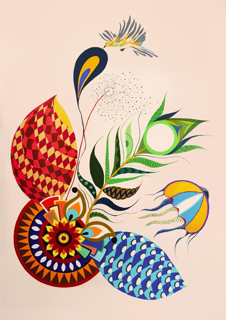 Abstract Mandala Wall Painting By Minigopal