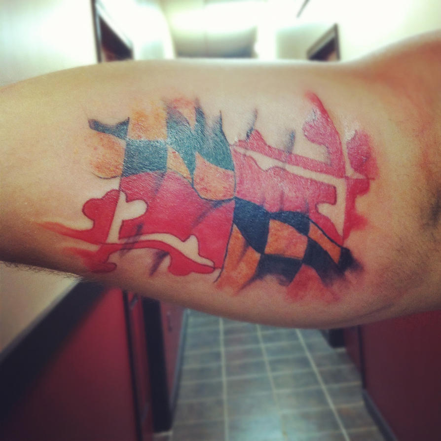 Maryland State Flag Tattoo Designs