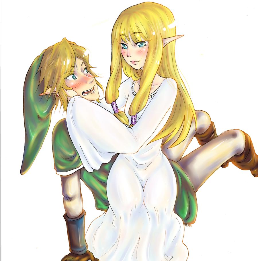 zelda and link fanart by mokaccina zelda and link fanart by mokaccina - Link Et Zelda