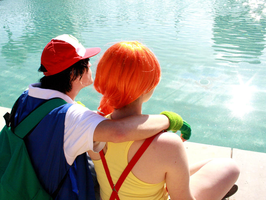 Ash+Misty - A Date by ~moonlight-fright on deviantART
