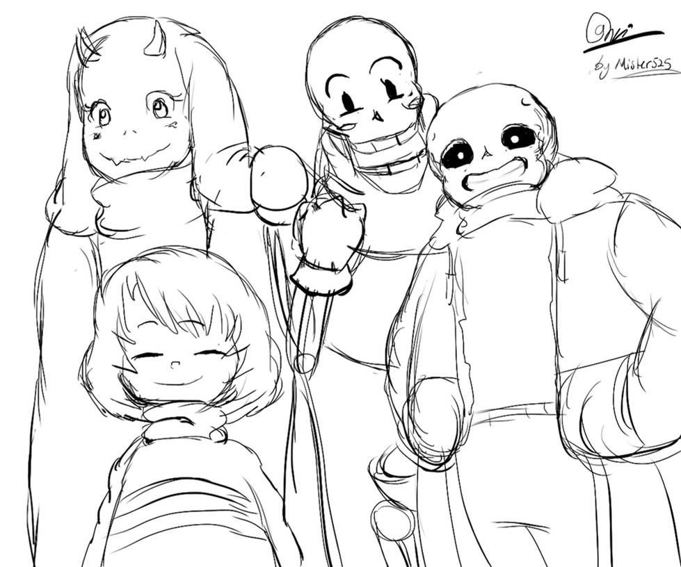 Coloriage Undertale.My Fav Sketch Undertale Character From Toby Fox By Mister525
