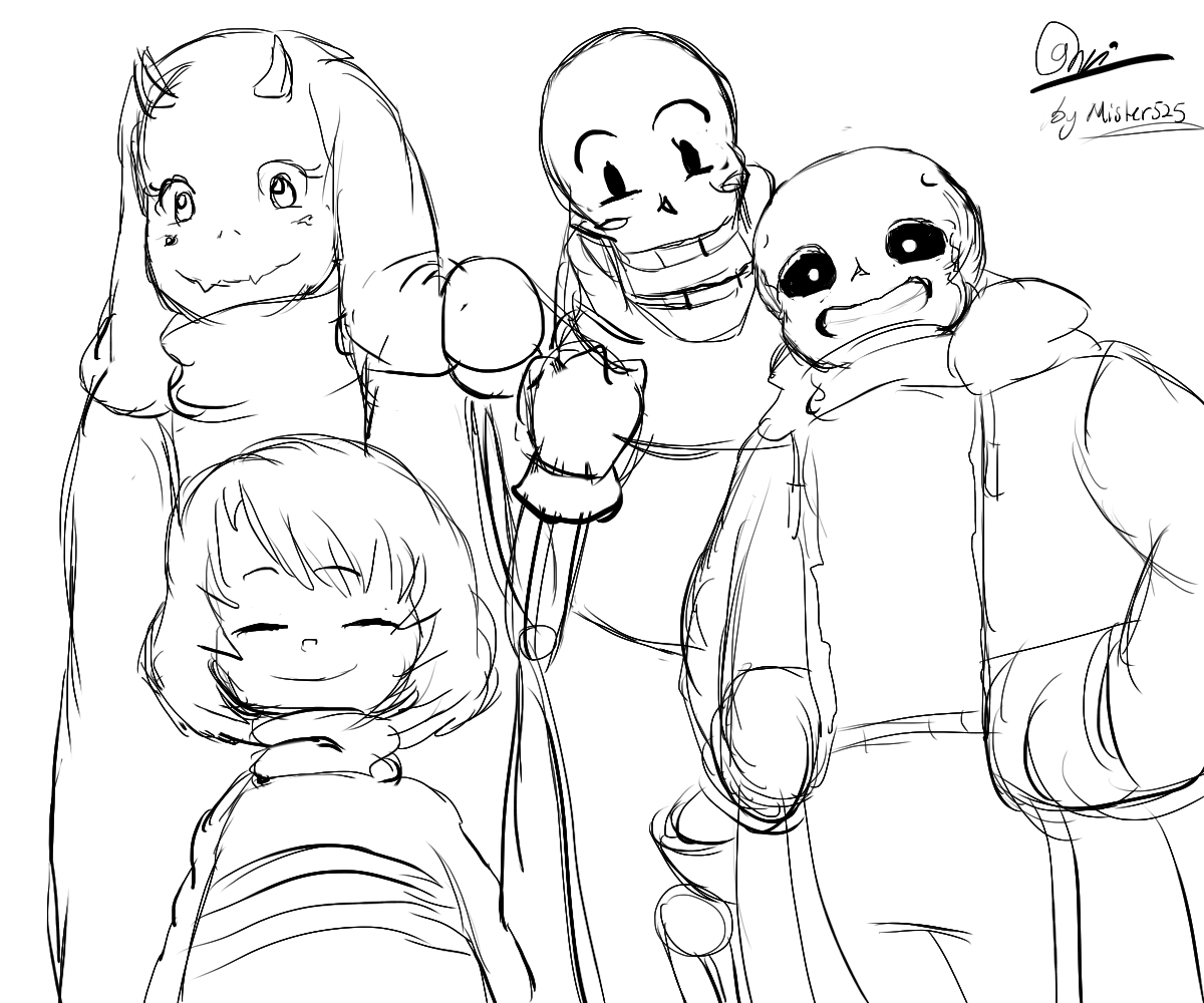 My fav sketch undertale character from toby fox by for Undertale coloring pages